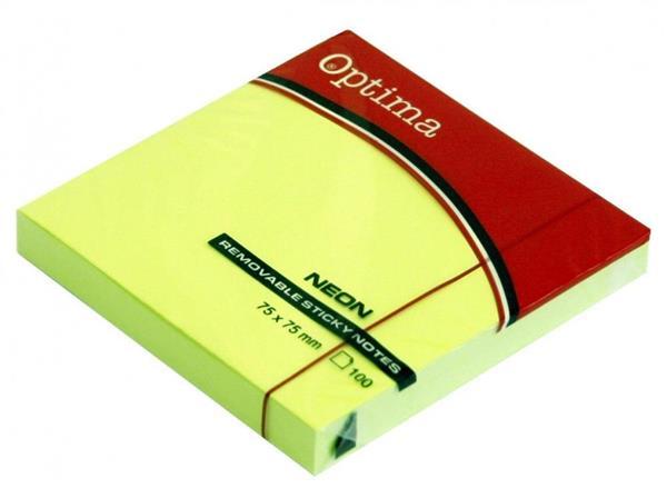 Karteczki samoprzylepne 75x75mm zielone OPTIMA