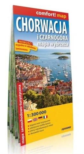 Comfort! map Chorwacja i Czarnogóra 1:300 000 mapa