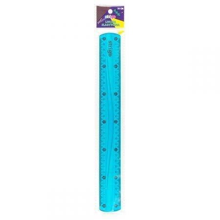 Linijka elastyczna 30 cm niebieska STRIGO
