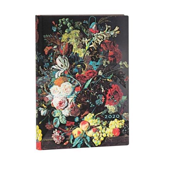 Kalendarz książkowy midi 2020 12M hor. Van Huysum