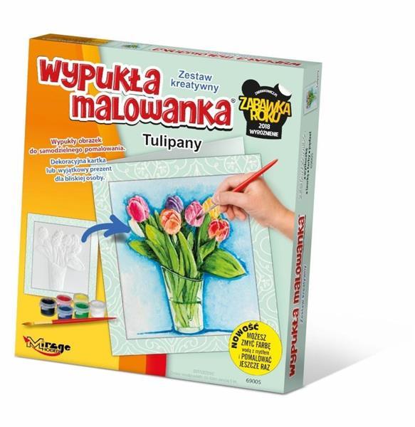 Wypukła Malowanka - Kwiaty Tulipany