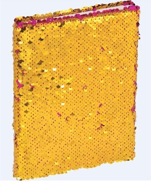 Brulion A5/96K z cekinami różowo - złoty GRAND