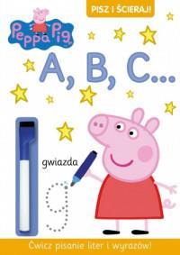 Peppa Pig. Pisz i ścieraj A B C outlet