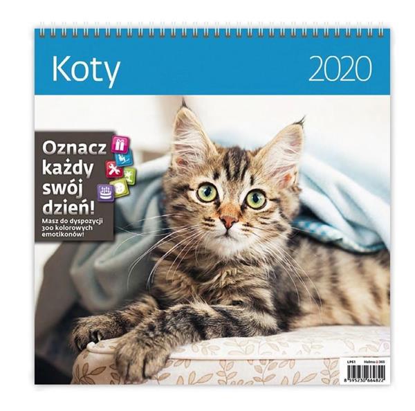 Kalendarz 2020 Koty 30x30cm NARCISSUS