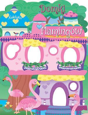 Domki flamingów. Naklejki!