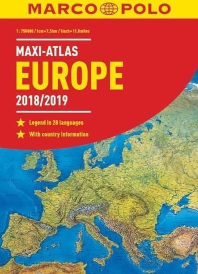 Maxi-Atlas Europa 2018/2019 1:750 000 MARCO POLO