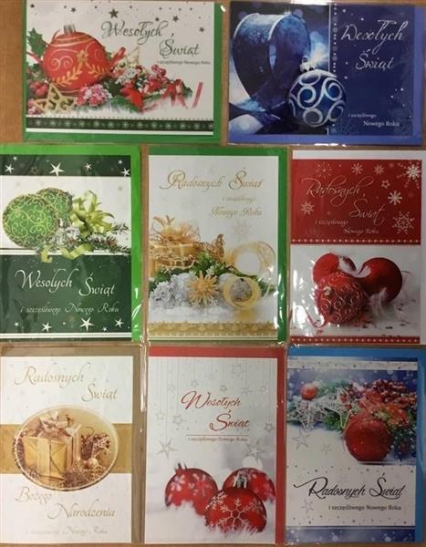 Karnet Boże Narodzenie B6 + koperta mix wzorów