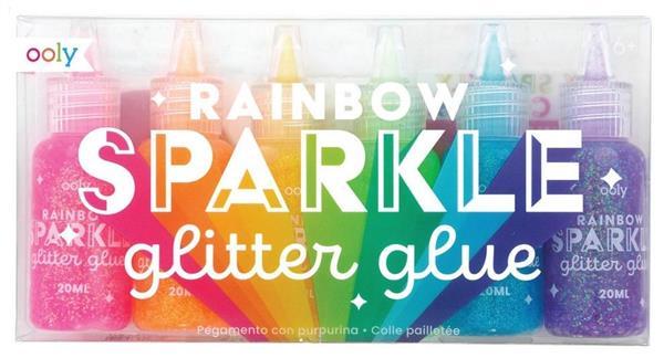 Klej z brokatem Rainbow sparkle (6szt)