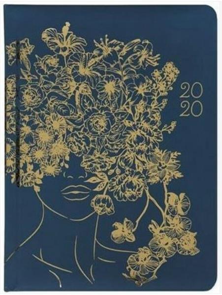 Kalendarz tygodniowy B6 2020 Złote kwiaty ALBI