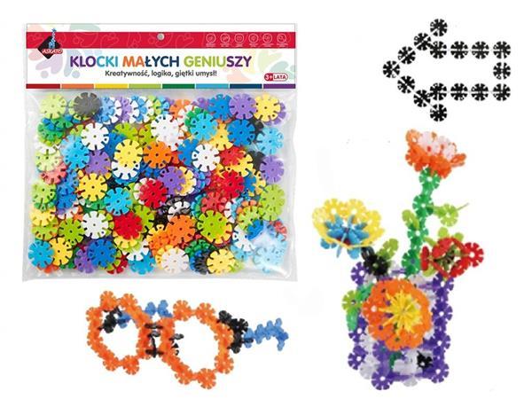 Klocki - kwiatki 198 elementów