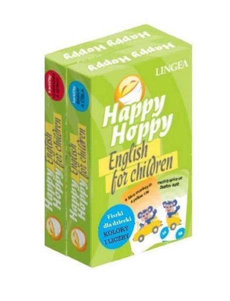 Happy Hoppy Fiszki dla dzieci. Angielski. Pakiet