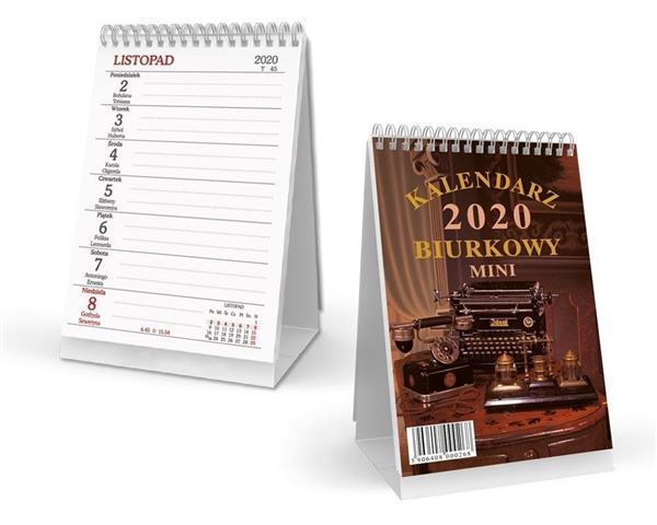 Kalendarz 2020 Biurkowy pionowy mini SB5