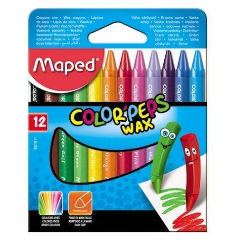 Kredki Colorpeps świecowe 12 kolorów MAPED