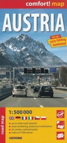 Comfort! map Austria 1:500 000 road map w.2018