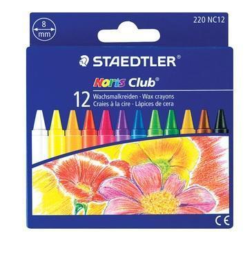 Kredki woskowe 12 kolorów Noris Club
