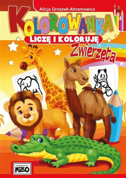 Kolorowanka. Liczę i koloruję. Zwierzęta-318656