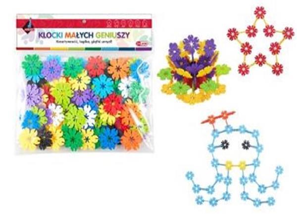 Klocki - kwiatki 80 elementów