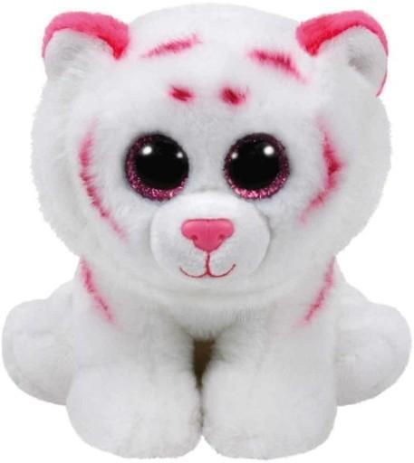Beanie Babies Tabor - Różowo-biały Tygrys 24cm