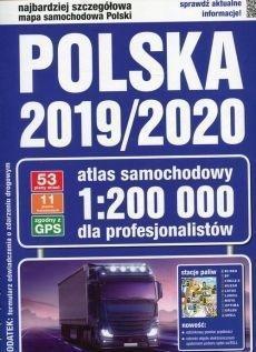 Atlas samochodowy 2019/2020 Polska 1:200 000