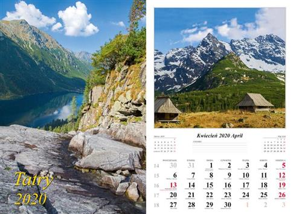 Kalendarz 2020 Tatry 13 planszowy RADWAN