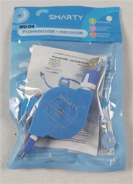 Smarty Przewód USB- microUSB-niebieski