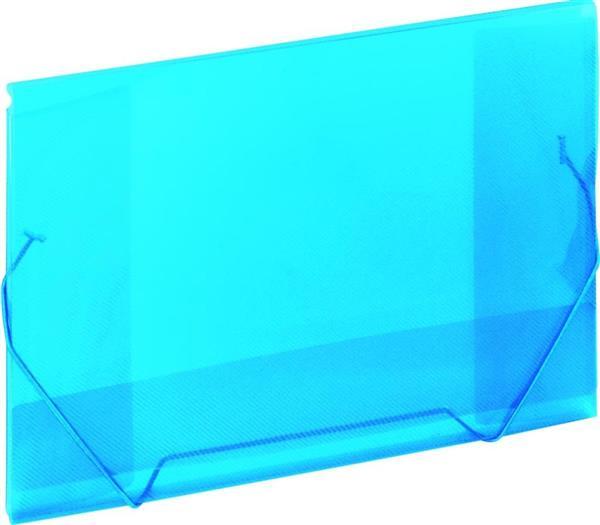 Koperta A4 na gumkę niebieska GRAND