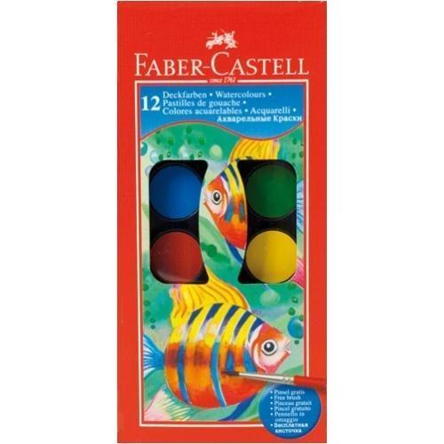 Farby szkolne 12 kolorów FABER CASTELL