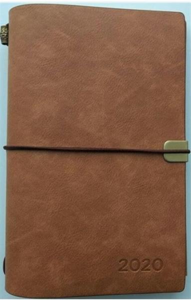 Kalendarz tygodniowy luksusowy 2020 brązowy ALBI