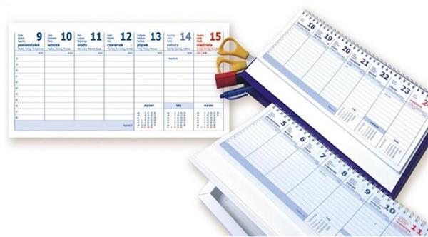 Kalendarz 2020 biurkowy z piórnikiem ANIEW