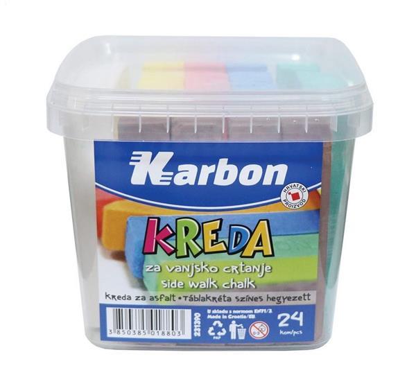 Kreda kolorowa do malowania po asfalcie 24 kolory