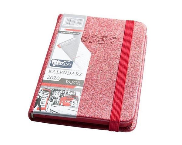 Kalendarz 2020 A7 tyg. Rock czerwony ELEFANT