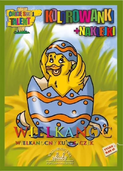 Wielkanoc. Wielkanocny kurczaczek - kolorowanki+n.