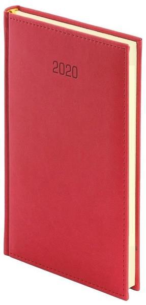 Kalendarz 2020 A6 Tygodniowy Vivella Czerwony