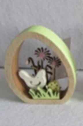 Dekoracja Wielkanocna wycinane jajko - Kura