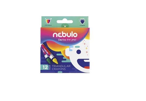Kredki świecowe trójkątne 12 kolorów NEBULO