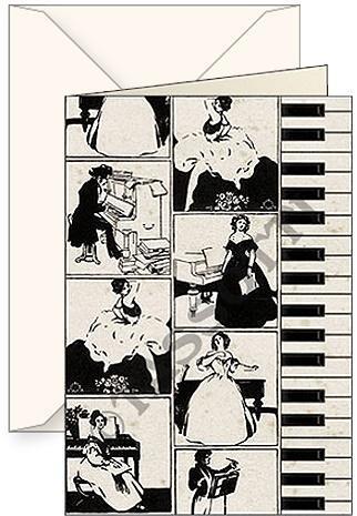 Karnet B6 + koperta Pianoforte