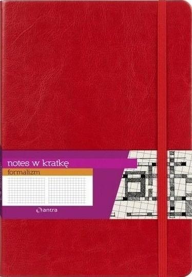 Notes A5 Kratka Formalizm Czerwony Logo ANTRA