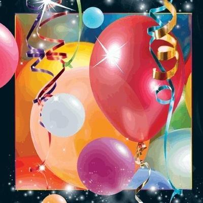 Pocztówka 3D Balony