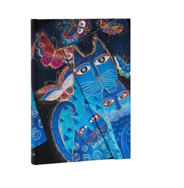 Kalendarz książkowy midi 2020 12M hor. Blue Cats