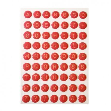 Litery samoprzylepne różowe 3D