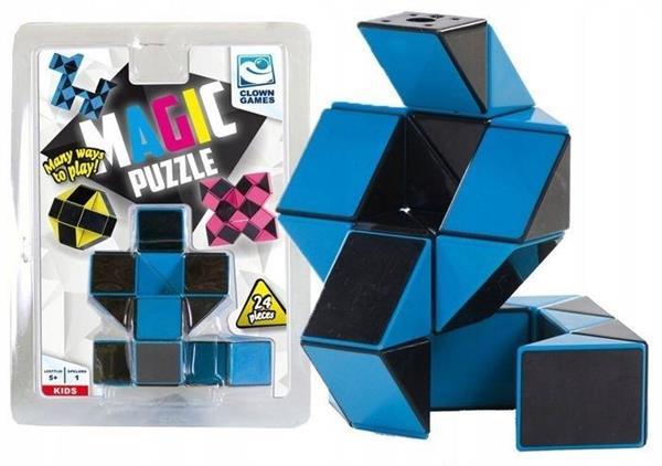 Clown Magic Puzzle magiczny wąż niebieski 24 el