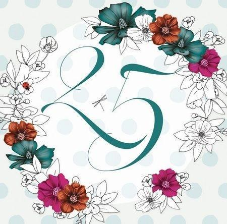 Karnet Swarovski kwadrat CL1425_PO Urodziny 25