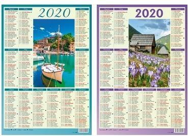 Kalendarz 2020 plakietka MIX