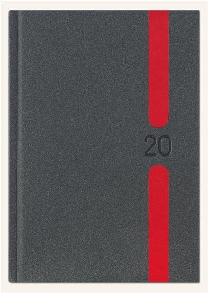 Kalendarz 2020 Ksiażkowy B6 Lux grafit melange