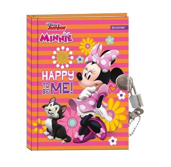 Pamiętnik z kłódką Minnie Mouse