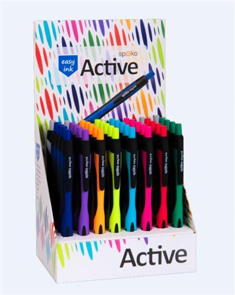 Długopis Active S0117 (40szt) dspl SPOKO