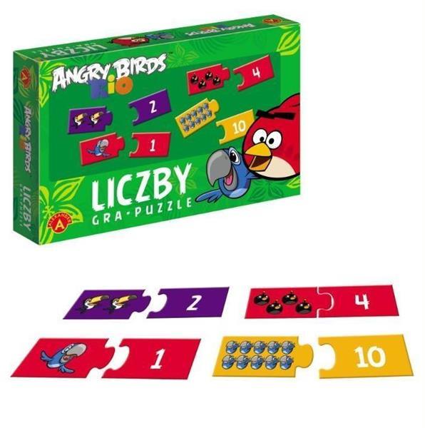Angry Birds Rio. Gra puzzle - Liczby ALEX