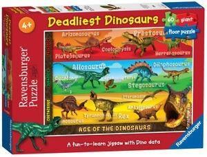 Puzzle 60 Śmiercionośne dinozaury