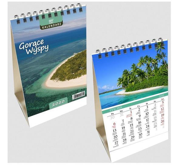 Kalendarz biurkowy 2020 pion mały Wyspy EV-CORP