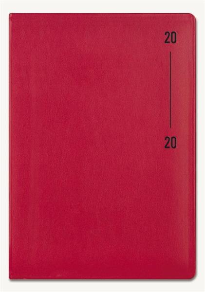 Kalendarz 2020 Książkowy A5 Note czerwony mat